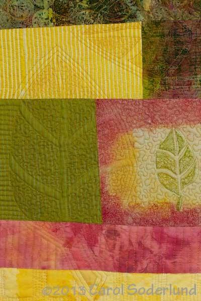 Leaves Three, detail