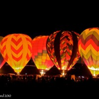 Reno Balloon Race at dawn