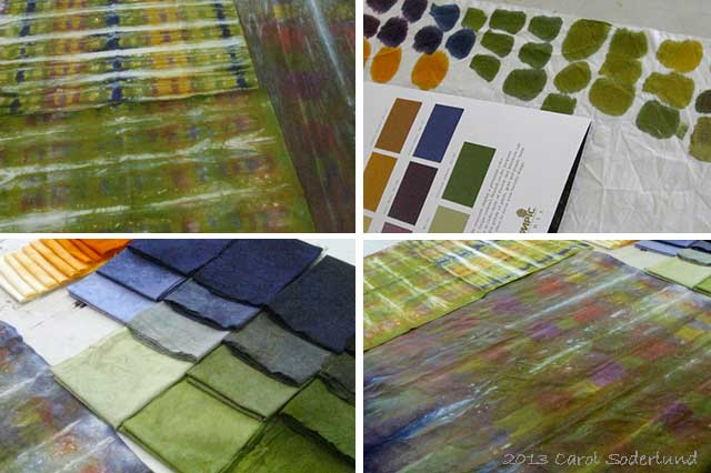 palette of colors in hand-dyed cloth