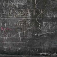 chalkboard graffiti