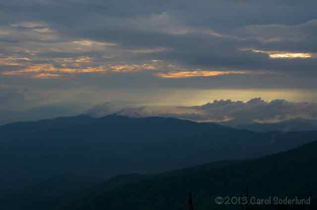 Sunset in the Great Smoky Mountain National Park