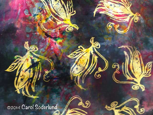 beautiful fabric from color removal process