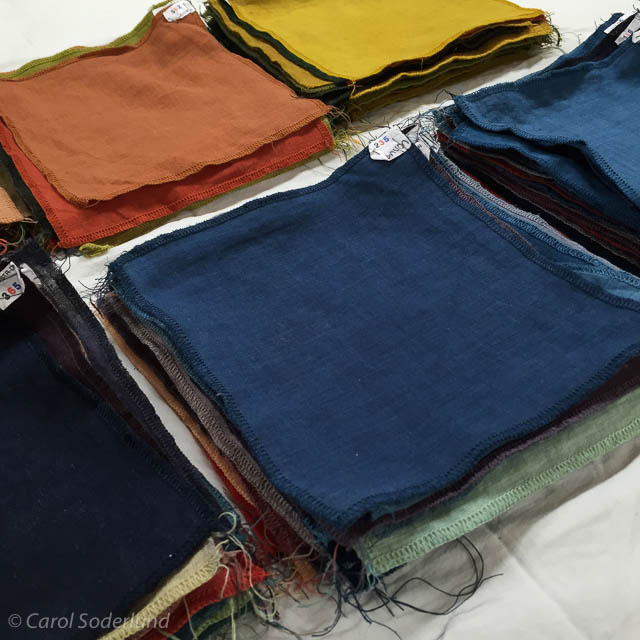 hand-dyed cloth