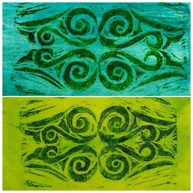 Hand-Printed Koru Symbol