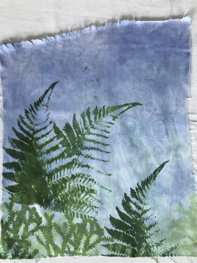 Fern Print in progress