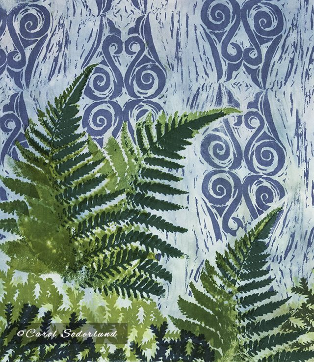 finished fern print